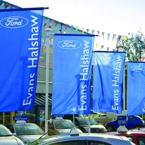 Forecourt flags