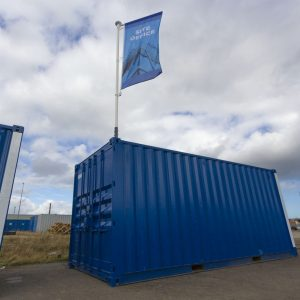 Container Flagpole Site Office