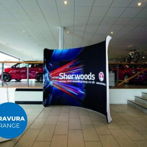 Modular Fabric Display Curved Wall Exhibition Event